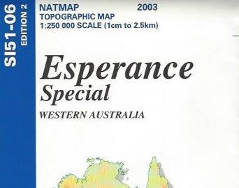 Esperance Special Topographic Map