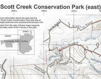 scott creek conservation park map