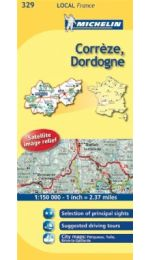 Correze, Dordogne - Michelin Map 329