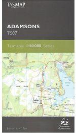 Adamsons Topographic Map - Tasmap TK07