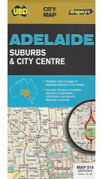 Adelaide Suburbs & City Centre Map - UBD 518