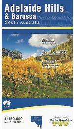 Adelaide Hills & Barossa Map - Carto Graphics