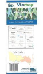 Arcadia 7924-N Topographic Map - Vicmap