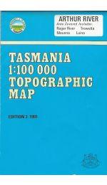 Arthur River TAS 100k Topographic Map - 7915