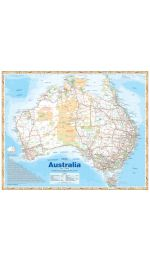 Australia Handy Map - Laminated