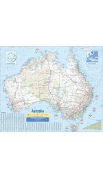 Australia Map Laminated - Meridian