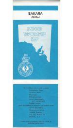 Bakara Topographic Map - 6828-1