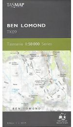 Ben Lomond Topographic Map TK09 - Tasmap