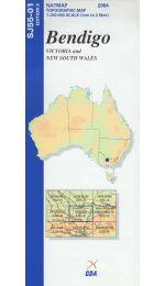 Bendigo Topographic Map - SJ55-01