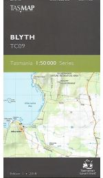Blyth 50k Topographic Map - TC09 Tasmap