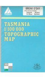 Break O'Day TAS Topographic Map - 8514