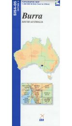 Burra Topographic Map - SI54-05