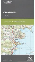 Channel Topographic Map 50k Tasmap - TR08