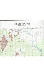 Dixon Range Topographic Map 50k - 4562-1