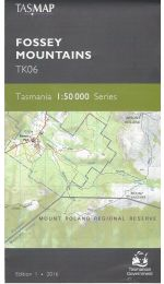 Fossey Mountains Topographic Map - Tasmap TK06