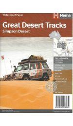 Great Desert Tracks Simpson Desert Map - Hema