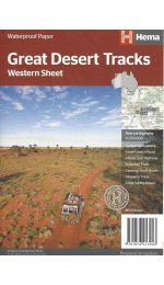 Great Desert Tracks Western Map Sheet - Hema Maps