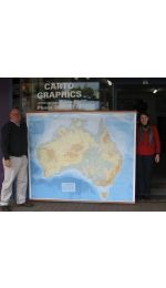 Australia Super Map - Wall Map