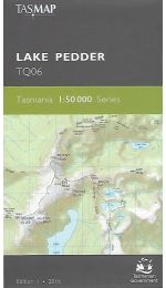 Lake Pedder Topographic Map TQ06 - Tasmap
