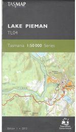 Lake Pieman 50k Tasmap - TL04