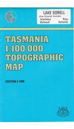 Lake Sorell Tasmania Topographic Map - 8313