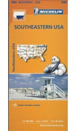 USA - Southeastern Map - Michelin 584