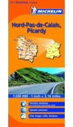France Regional - Nord, Pas De Calais, Picardie 511 Michelin