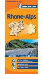 France Regional - Rhone Alpes Michelin 523