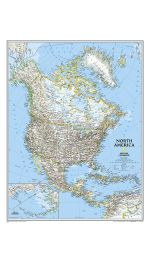 North America Wall Map Large Laminated
