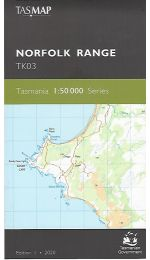 Norfolk Range Topographic Map TK03 - Tasmap