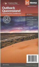 Outback Queensland Map - Hema Maps