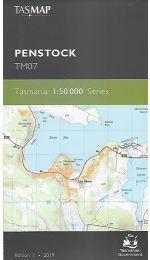 Penstock Topographic Map TM07 - Tasmap