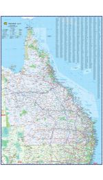 Queensland Wall Map UBD Laminated