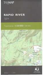 Rapid River Topographic Map TJ04 - Tasmap