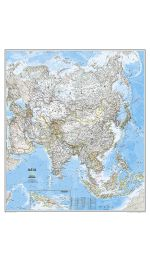 Asia Map - Laminated - National Geographic