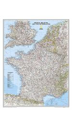 France Map Laminated - National Geographic