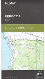 Rebecca Topographic Map TJ03 - Tasmap