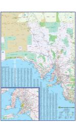 South Australia Wall Map - UBD Laminated