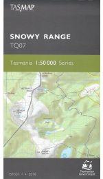 Snowy Range Topographic Map - TQ07 Tasmap