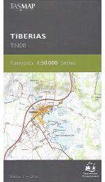 Tiberias Topographic Map TN08 - Tasmap
