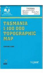 Tyenna 1:100000 Topographic Map 8212 Tasmap