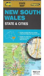 New South Wales State & Cities Map - UBD 219