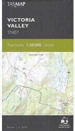 Victoria Valley Topographic Map TN07 - Tasmap