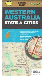 Western Australia State & Cities Map - UBD 619