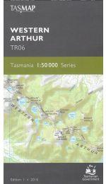 Western Arthur Tasmap Topographic Map - TR06