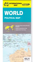 World Political Map - UBD/Gregorys
